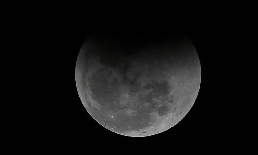 "BRASIL - Brasília - BSB - PA - 27/07/2018 - PA - Eclipse lunar - ""Lua de Sangue"". Foto de Jorge William / Agência O Globo Foto: Jorge William / Agência O Globo"
