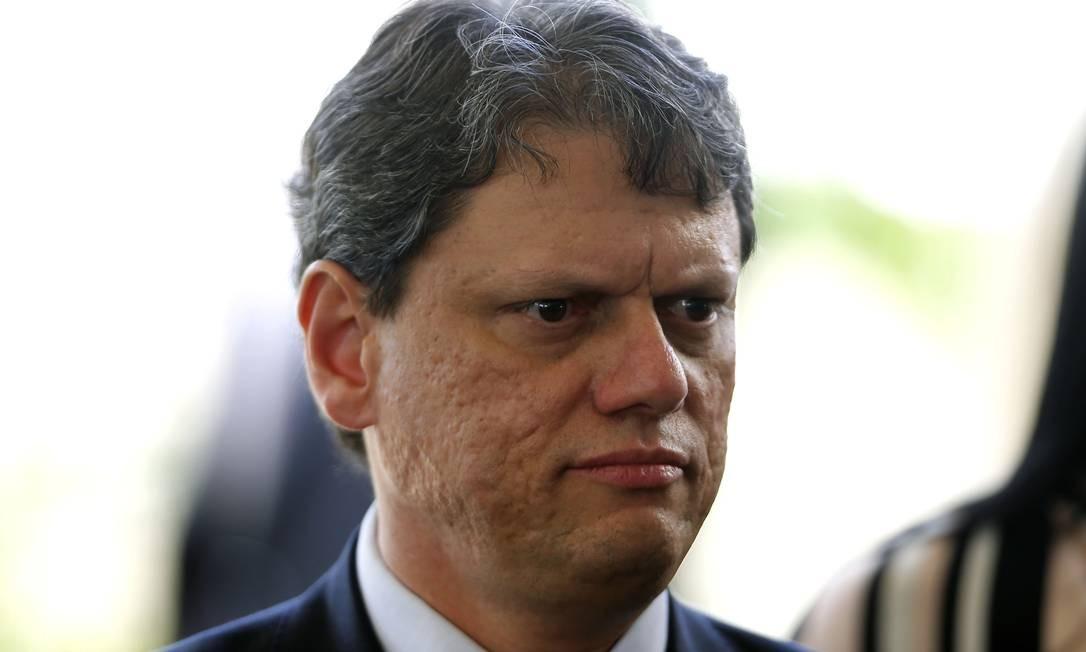 O ministro da Infraestrutura Tarcísio Freitas Foto: Jorge William / Agência O Globo
