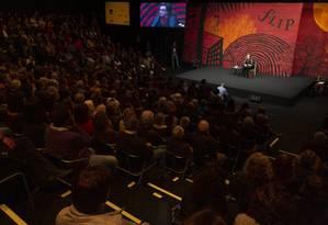 Fala da crítica literária Walnice Nogueira sobre Euclides da Cunha na abertura reverberou nos cinco dias Foto: Leo Martins / Agência O Globo