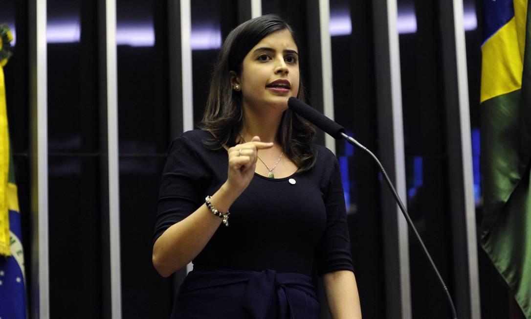Deputada Tabata Amaral (PDT - SP) fala no plenário da Câmara Foto: Luis Macedo / Câmara dos Deputados