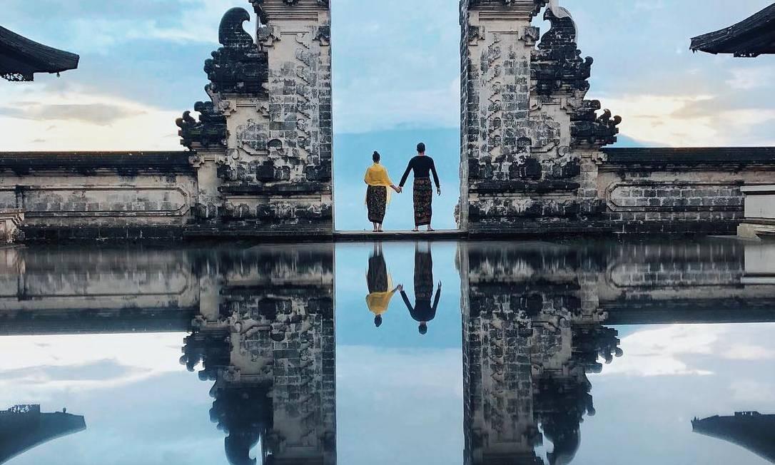 """O Templo Pura Lempuyang Luhur, também conhecido como de """"Portões do Céu"""" Foto: Reprodução/Instagram"""