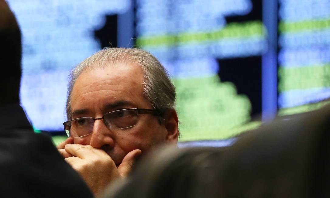 Eduardo Cunha em sessão na Câmara dos Deputados em 2016 Foto: Ailton de Freitas / Agência O Globo