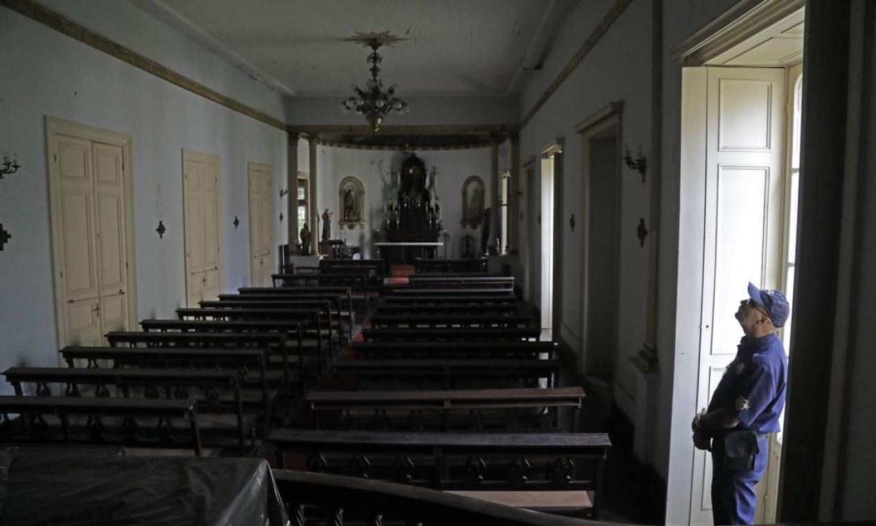 Capela do complexo da antiga Beneficiência Portuguesa vai voltar a ter missas após a reforma Foto: Custodio Coimbra / Agência O Globo