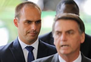 De acordo com o porta-voz, o presidente não avalia nenhum outro nome para a embaixada Foto: SERGIO LIMA / AFP