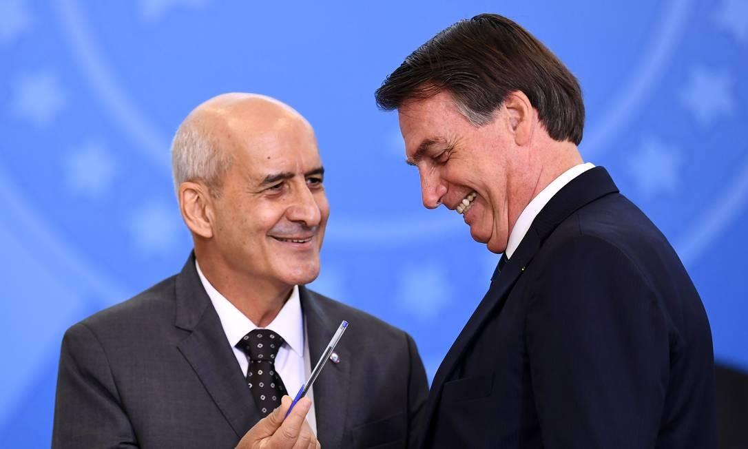 Luiz Eduardo Ramos e Jair Bolsonaro Foto: EVARISTO SA / AFP