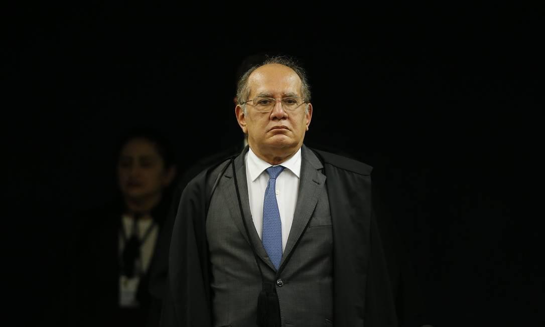 O ministro do STF criticou o parecer da procuradora-geral da república, Raquel Dodge Foto: Jorge William / Agência O Globo
