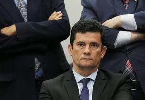 Ministro Sergio Moro anunciou a decisão em redes sociais Foto: Jorge William / Agência O Globo