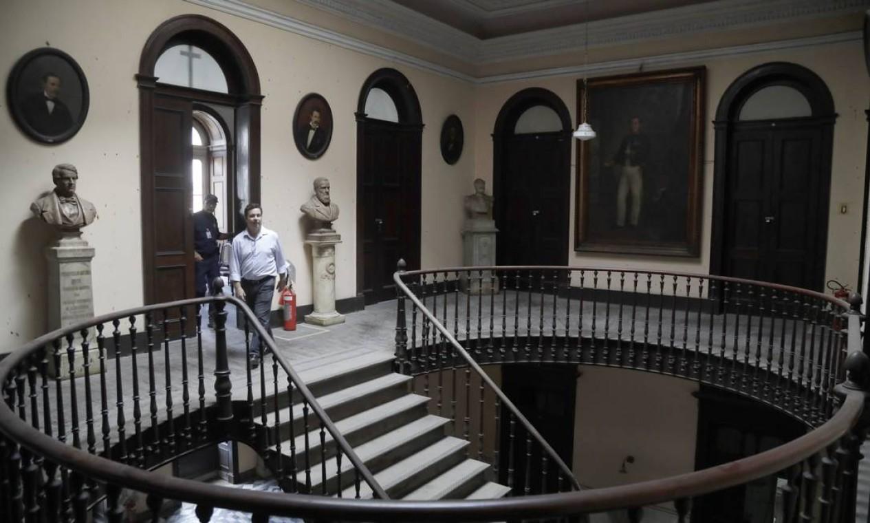 A ideia dos compradores é transformar o espaço em um centro de ensino e de pesquisa Foto: Custódio Coimbra / Agência O Globo