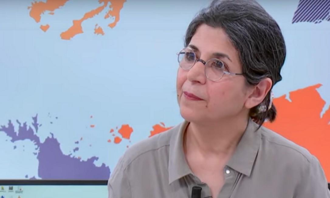 Fariba Adelkhah, pesquisadora franco-iraniana, detida em Teerã Foto: Reprodução / Youtube/France 24