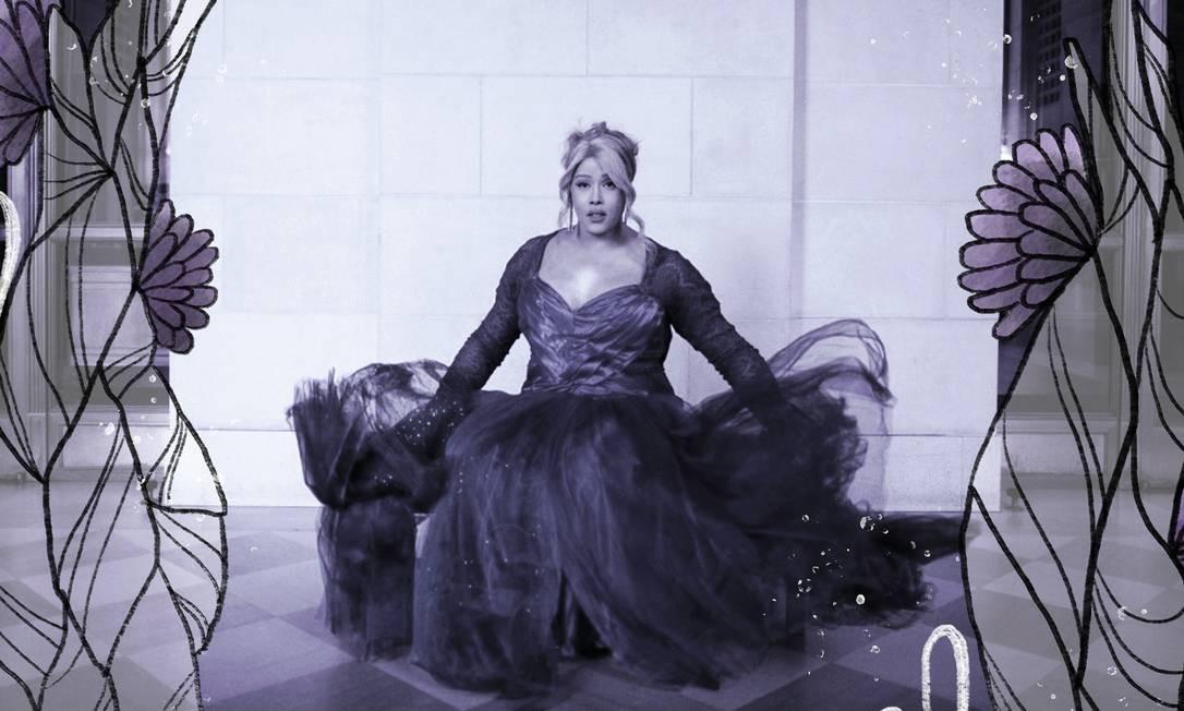 A cantora trans Breanna Sinclairé na War Memorial Opera House em São Francisco Foto: (Talia Herman/The New York Times) / NYT
