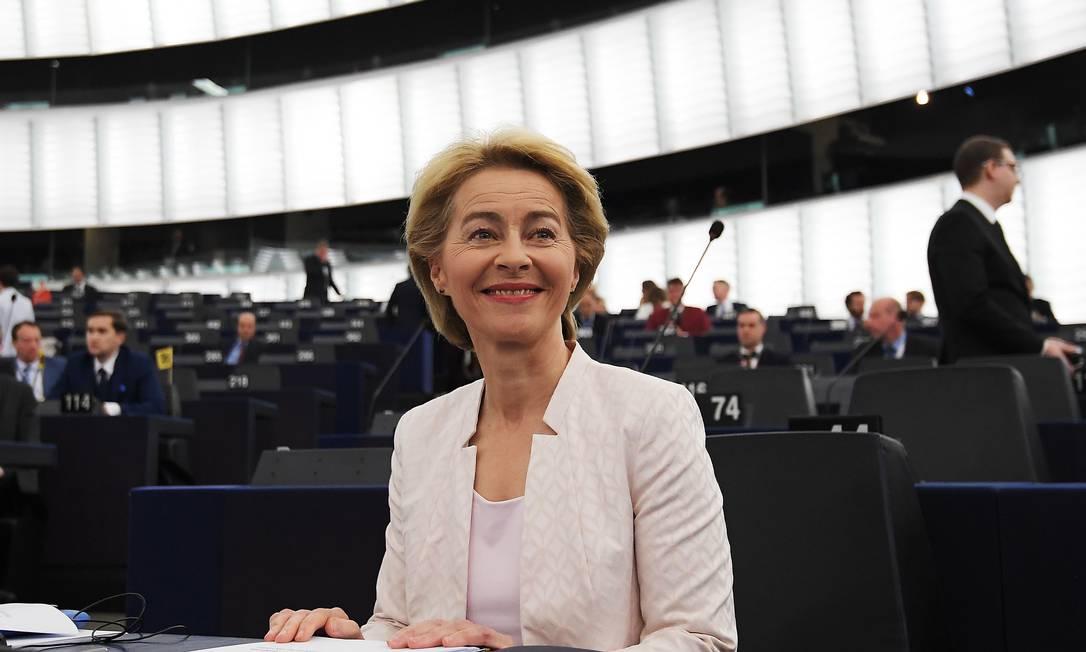 Ursula von der Leyen é a primeira mulher a ocupar a Presidência da Comissão Europeia Foto: FREDERICK FLORIN / AFP