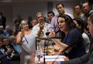 Deputada Janaína Paschoal discursa na Alesp Foto: Edilson Dantas 18/02/2019 / Agência O Globo