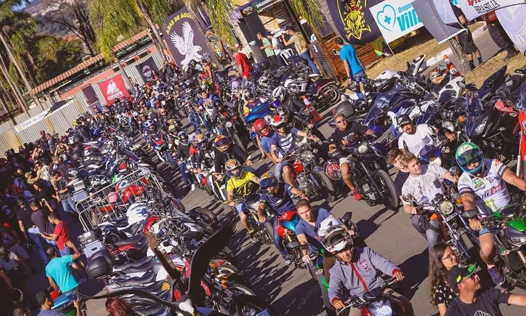 Muvuca garantida: motociclistas de todo o Brasil e até de outros países costumam marcar presença no evento de Brasília Foto: Divulgação / Divulgação