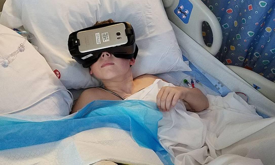 No hospital pediátrico da Universidade Stanford todos os leitos possuem equipamentos de realidade virtual Foto: Lucile Packard Children's Hospital