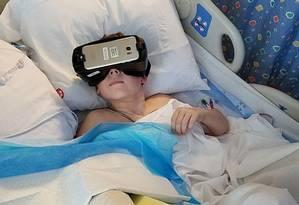 No hospital pediátrico da Universidade Stanford, todos os leitos possuem equipamentos de realidade virtual Foto: Lucile Packard Children's Hospital