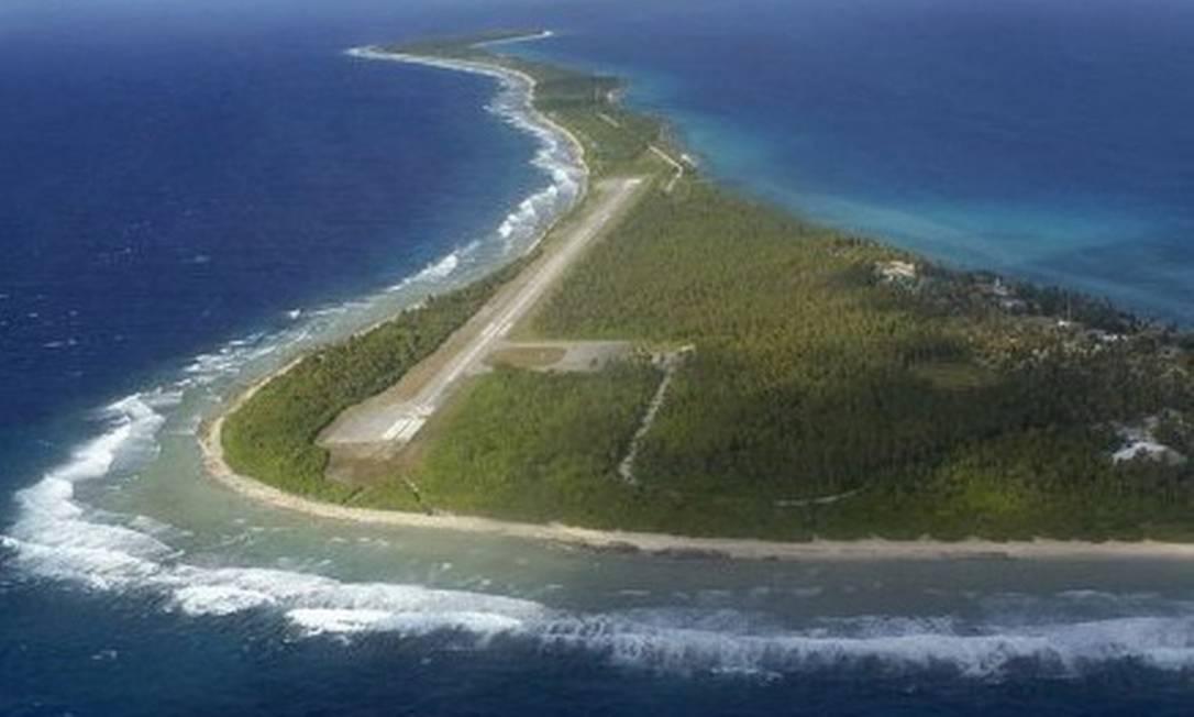 Ilhas Marshall, um dos locais usados pelos EUA para testes de armas nucleares nas décadas de 1960 e 1970. Há décadas o local possui alta incidência de problemas de saúde ligados à radiação Foto: AFP