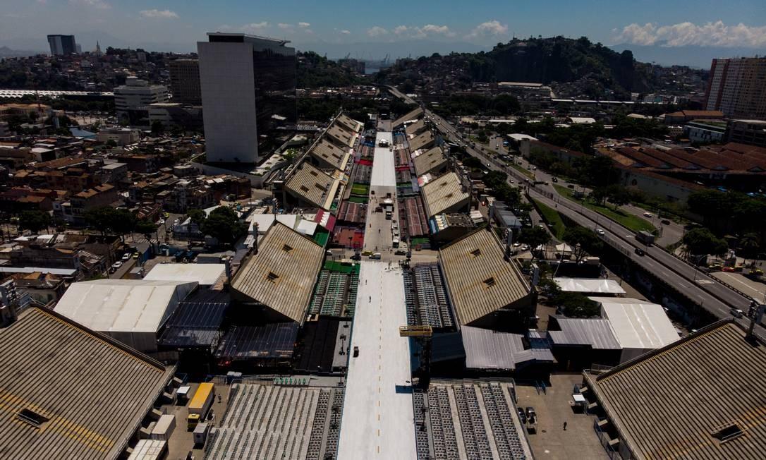 O Sambódromo será administrado pelo governo do estado no carnaval de 2020 Foto: Brenno Carvalho / Agência O Globo