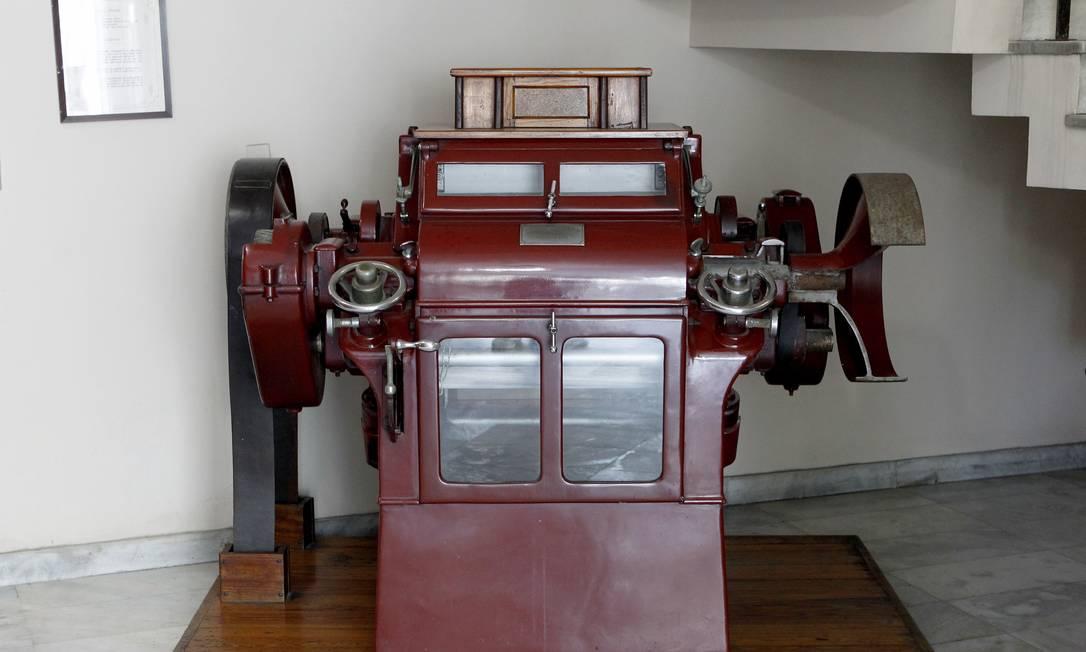 Antiga máquina de moer trigo Foto: Gustavo Miranda / Agência O Globo
