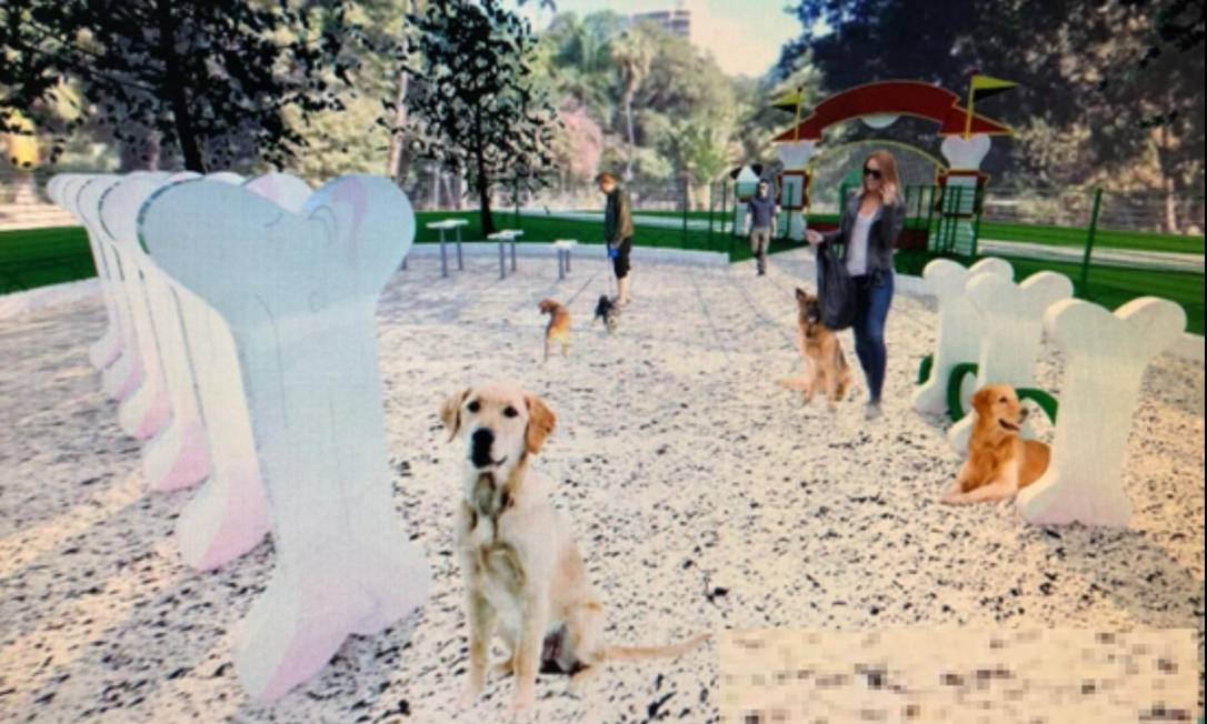 Dog park na Barra vai contemplar brinquedos de agility com temática canina Foto: Reprodução /