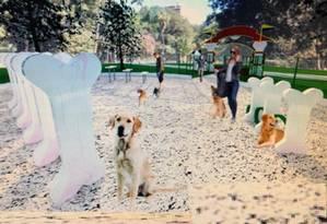 Dog park na Barra vai contemplar brinquedos de agility com temática canina Foto: Reprodução