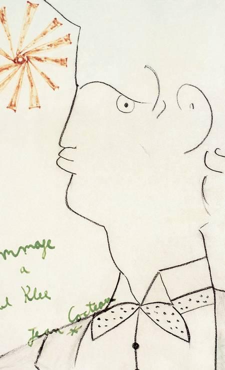 A obra 'Hommage à Paul Klee', de Jean Cocteau, sem data. Klee, por coincidência, é tema de uma retrospectiva no Centro Cultural Banco do Brasil Foto: © Cocteau, Jean/ / Divulgação/