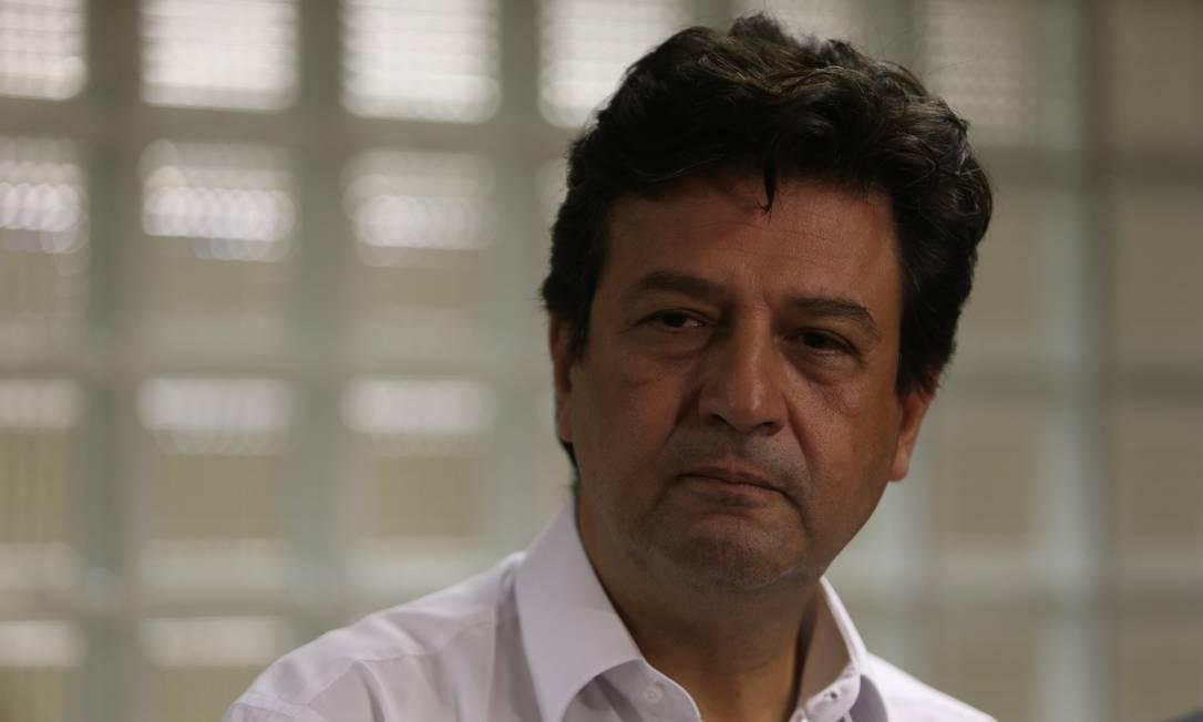 O ministro Luiz Henrique Mandetta defendeu revisão de preços negociados pelo governo Foto: Pedro Teixeira - 26-4-19 / Agência O Globo