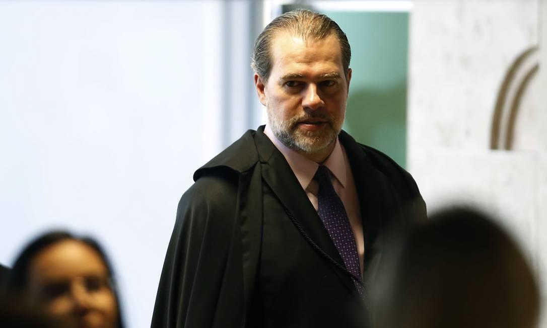 Ministro Dias Toffoli preside sessão plenária do Supremo Tribunal Federal Foto: Jorge William 24/04/2019 / Agência O Globo