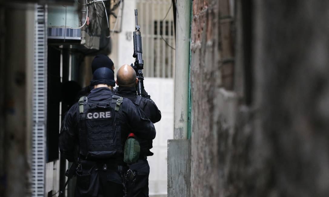 Operação policial na Favela da Maré, no Rio de Janeiro 18/07/2019 Foto: Pablo Jacob / Pablo Jacob