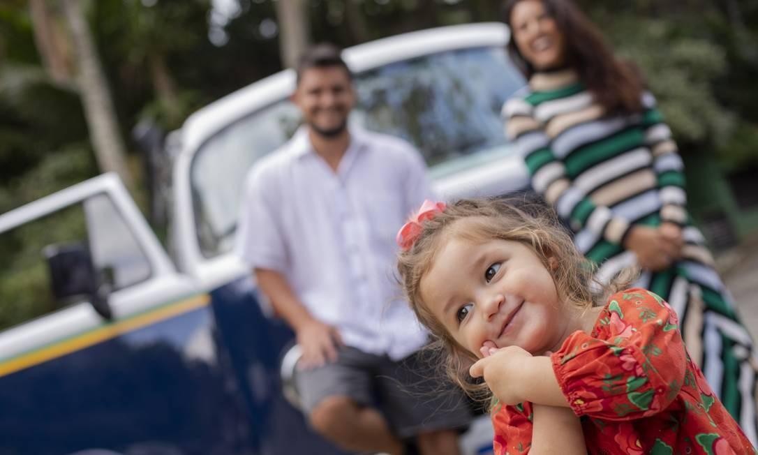 Madalena, filha de Bruno Gissoni e Yanna Lavigne Foto: GABRIEL MONTEIRO / Agência O Globo