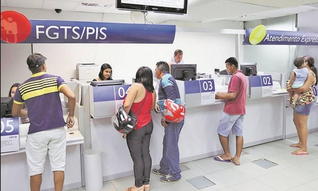 O governo vai anunciar a liberação dos saques do FGTS na quarta-feira Foto: Divulgação-Caixa Econômica Federal