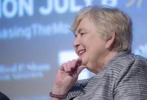 'Poppy' Northcutt em recente evento que apresentou prévia de documentário sobre a exploração espacial na Biblioteca LBJ, na Universidade do Texas em Austin: da fama ao feminismo Foto: Jay Godwin/LBJ Library/01-05-2019