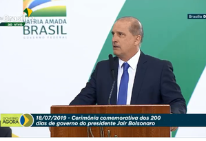 O ministro da Casa Civil, Onyx Lorenzoni, afirmou que o 'revogaço' vai facilitar a vida dos brasileiros Foto: Reprodução TV