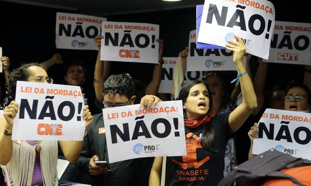 Reunião em comissão da Câmara que analisou o projetoo em 2018 Foto: Jorge William / Agência O Globo