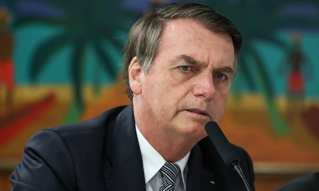 O presidenteJair Bolsonaro, durante café da manhã com jornalistas no Palácio do Planalto Foto: Marcos Corrêa / PR