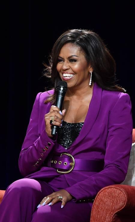 1ª posição: Michelle LaVaughn Robinson Obama. A advogada e escritora americana foi primeira dama dos Estados Unidos, ao lado do companheiro Barack Obama Foto: Paras Griffin / Getty Images
