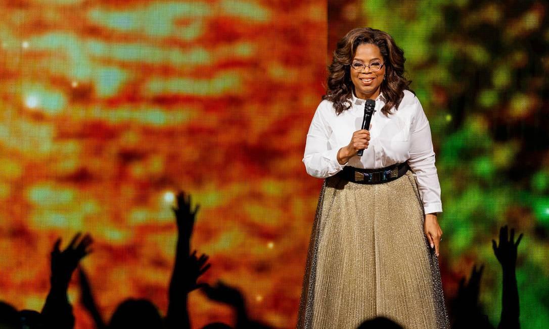 2ª posição: Oprah Winfrey. Apresentadora de TV, atriz e empresária americana Foto: Andrew Chin / Getty Images