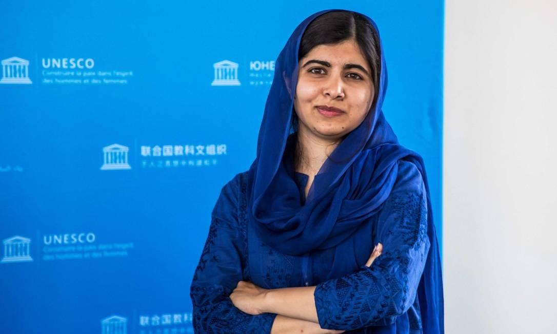 6ª posição: Malala Yousafzai. Ativista paquistanesa premiada com um Nobel Foto: CHRISTOPHE PETIT TESSON / AFP