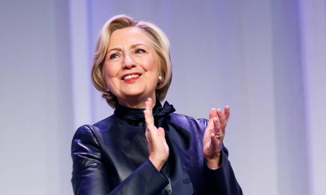 8ª posição: Hillary Clinton. A advogada e política americana foi secretária de Estado dos Estados Unidos, senadora por Nova York e primeira-dama Foto: Andrew Chin / Getty Images