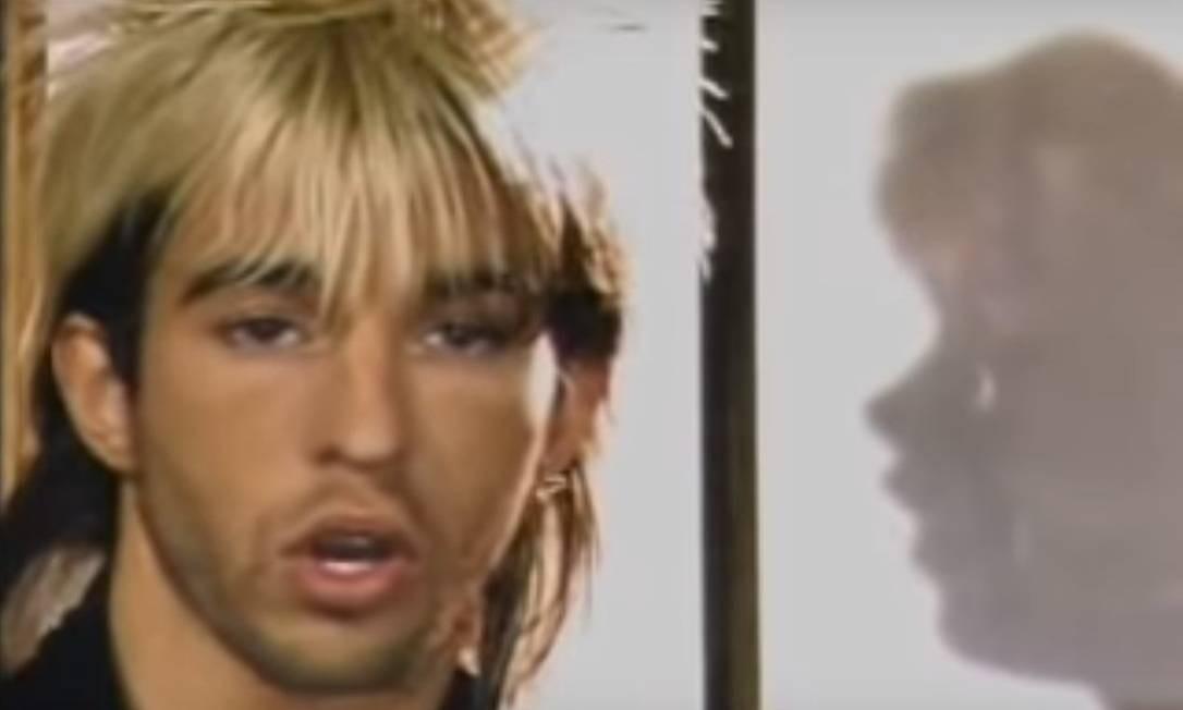 """O cantor inglês Limahl no vídeo da canção """"Neverending story"""" Foto: Reprodução da internet"""