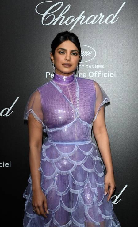 14ª posição: Priyanka Chopra. Atriz, cantora, modelo e ex-miss indiana Foto: Daniele Venturelli / Getty Images for Chopard