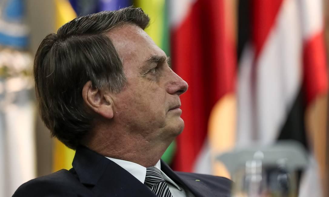 Jair Bolsonaro durante solenidade ao Dia Nacional do Futebol. Foto: Marcos Corrêa/Presidência