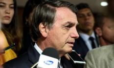 O presidente Jair Bolsonaro durante entrevista Foto: Marcos Corrêa / Presidência