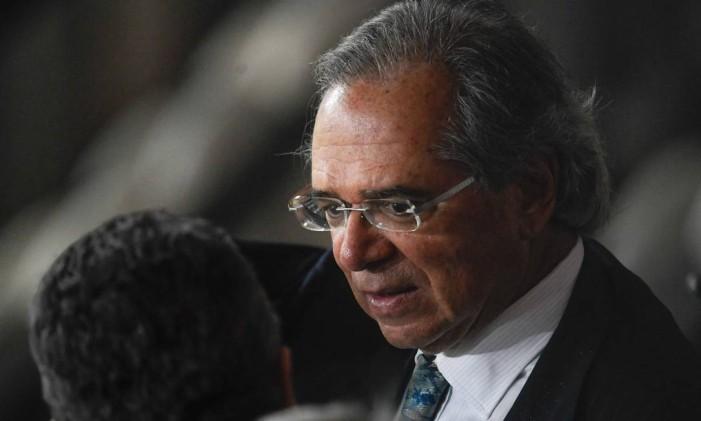 O ministro da Economia, Paulo Guedes. Foto: MAURO PIMENTEL / AFP