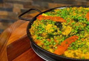 Paella Vegetariana: exclusividade do La Plancha do CasaShopping. Foto: Gabriela Fittipaldi / Agência O Globo