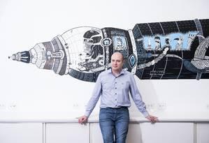 O engenheiro Lucas Fonseca, um dos pioneiros na divulgação do empreendedorismo espacial no Brasil Foto: Gustavo Morita / Divulgação