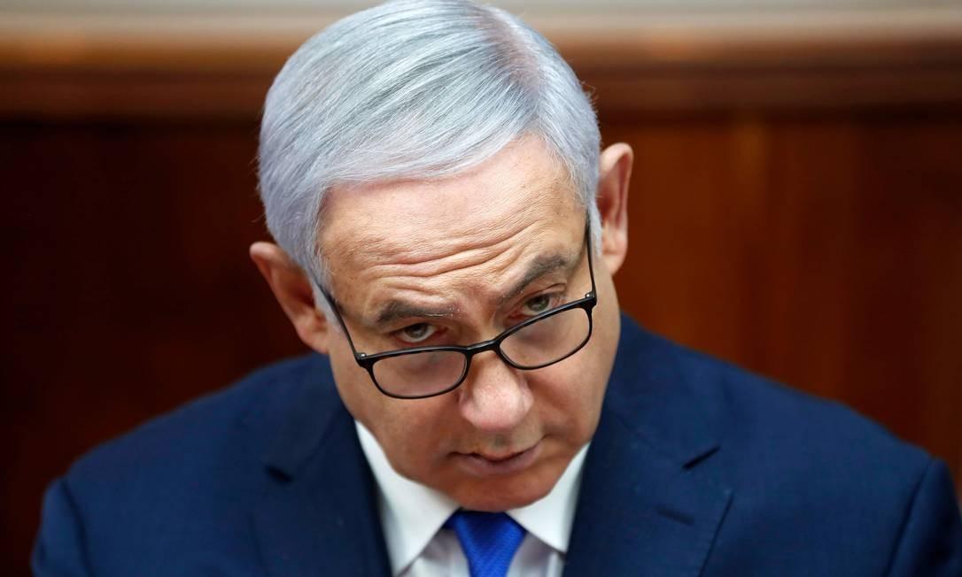 Primeiro-ministro israelense, Benjamin Netanyahu Foto: RONEN ZVULUN / AFP