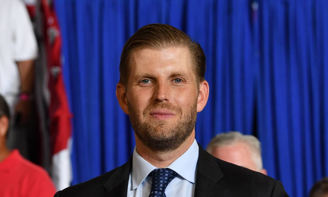 "Eric Trump attends a ""Make America Great Again"" rally at Minges Coliseum in Greenville, North Carolina, on July 17, 2019. (Photo by Nicholas Kamm / AFP) Foto: NICHOLAS KAMM / AFP"