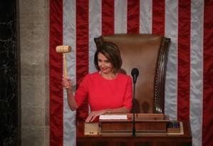 A presidente da Câmara dos Estados Unidos, Nancy Pelosi Foto: Mark Wilson / Getty Images