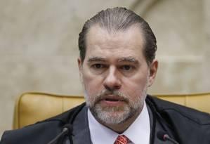 O presidente do Supremo, ministro Dias Toffoli Foto: Jorge William / Agência O Globo