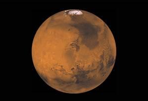 Imagem de Marte construída a partir de observações da sonda americana Viking 1 nos anos 1970: ciência moderna destruiu ilusões de uma civilização marciana, mostrando um ambiente inóspito, extremamente frio e seco Foto: Nasa/JPL
